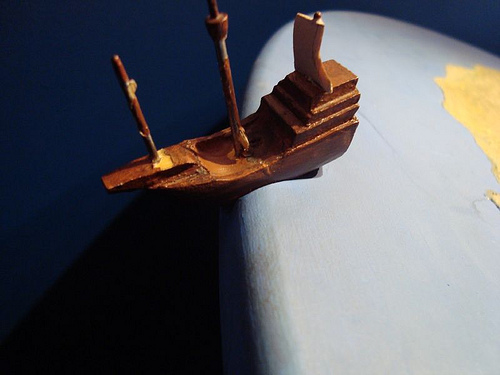 The world wasn't always round, according to the ancient experts. But someone didn't listen, and sailed anyway.