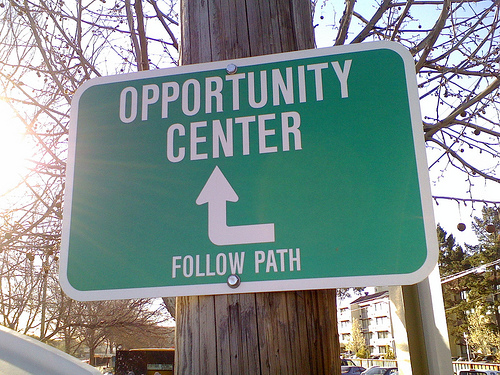 Opportunity is rarely this obvious and straightforward. Be prepared. Be confident. Take action.