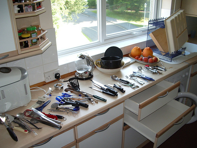 If you can't imagine a clean kitchen, can you imagine a clean drawer or two? Don't be governed by a lack of imagination.
