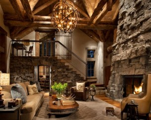 living-room-rustic-fireplace