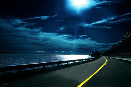 ocean landscapes night road moonlight 3456x2304 wallpaper_www.wall321.com_53