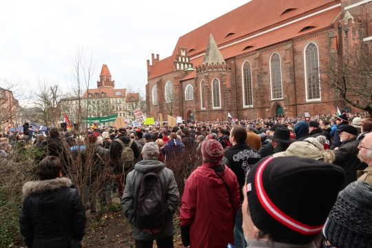 Cottbus Menschenmenge