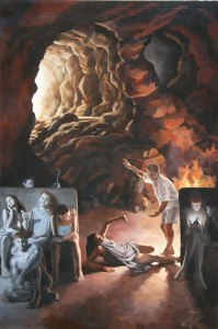 %name Platos Cave oil 4ftx6ft