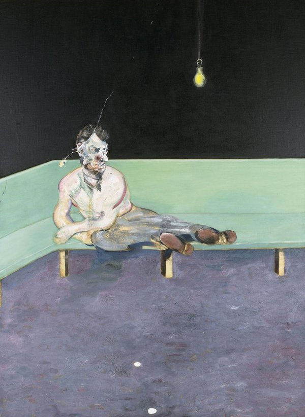 Study for Portrait of Lucian Freud, 1964 (oil on canvas)