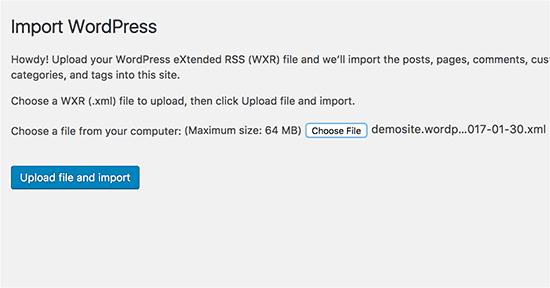 merge two WordPress sites 3