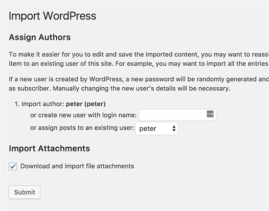 merge two WordPress sites 4