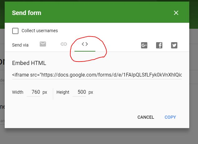 how to change size of embed wordpress
