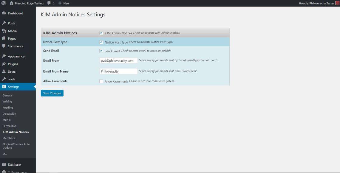 custom Admin notifications