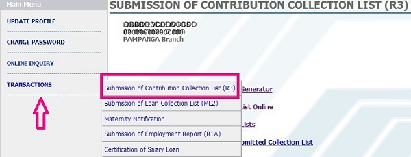 How To Submit Sss Online R3 Ml2 H3 Contributions Loan Collections