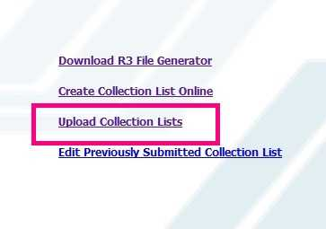How To Upload Sss R3 Collection List Online