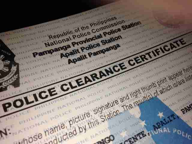 how to take police clearance certificate