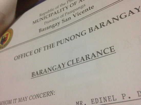 how to get barangay clearance requirements