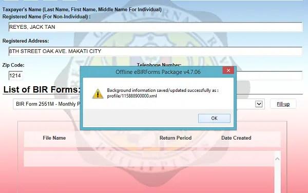 ebir forms download