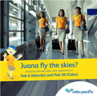 cabin crew hiring philippines 2016