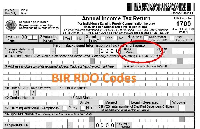 bir-rdo-codes-philippines