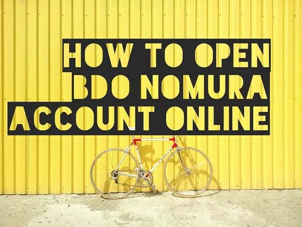 guides how to open bdo nomura account online