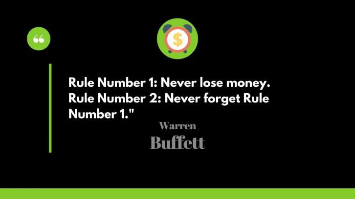 Warren Buffett famous rules