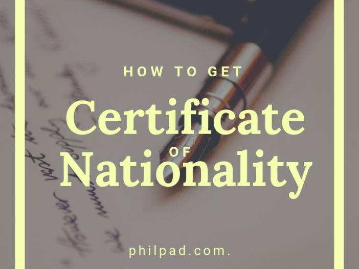 how to get certificate of nationality philippine citizen filipino