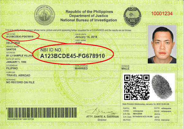 nbi id number