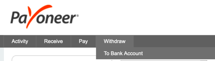 withdraw money from payoneer to bdo