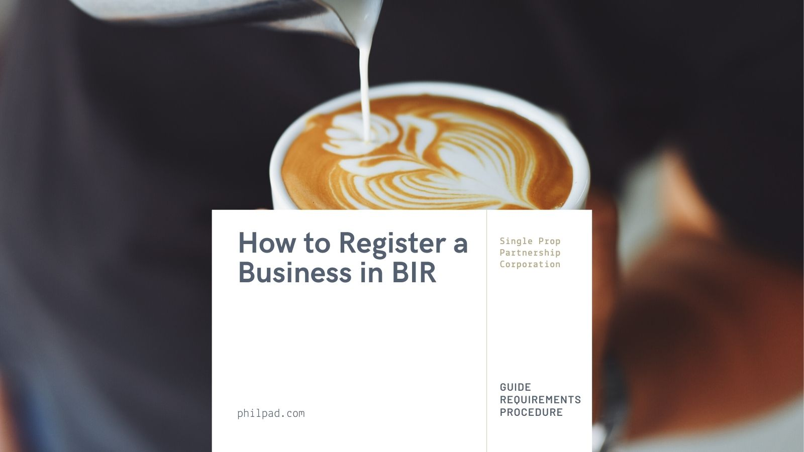 how to register business in BIR requirements