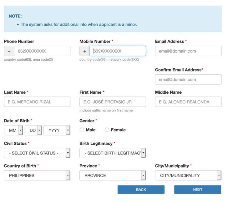 passport application form online