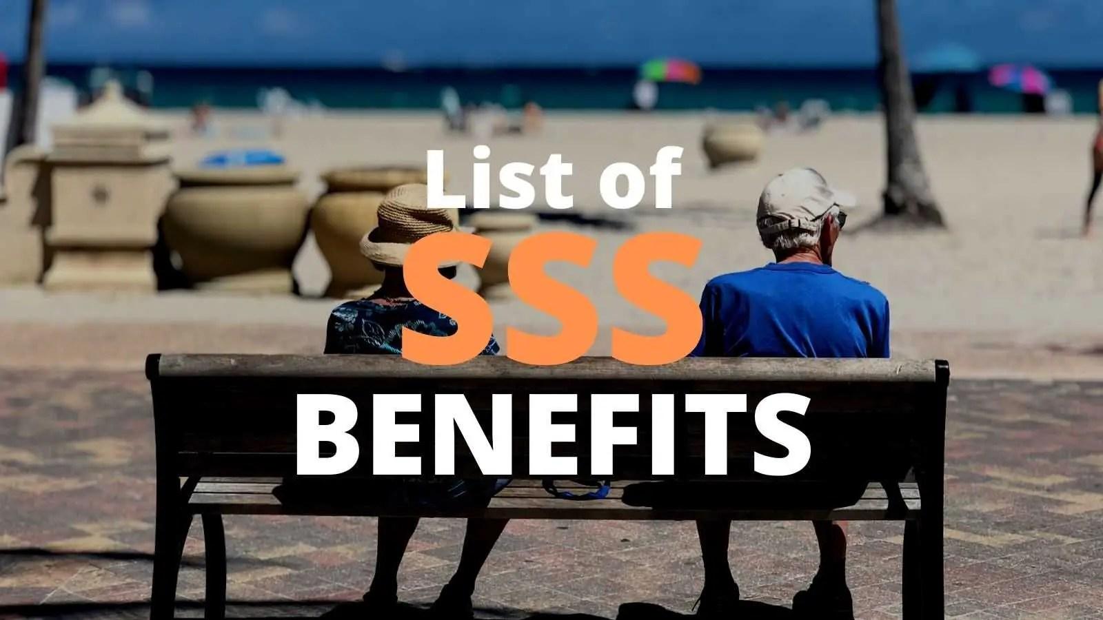 sss benefits 2021