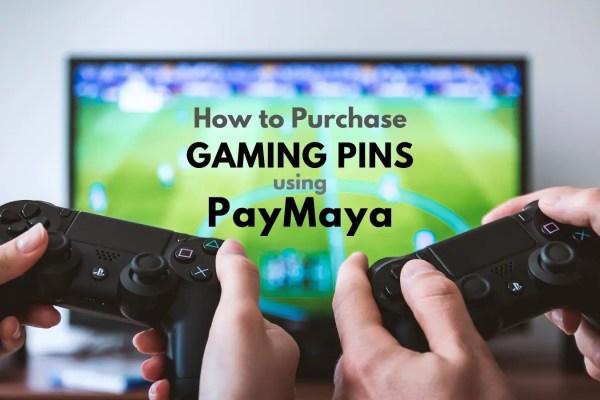 how to purchase gaming pins using paymaya