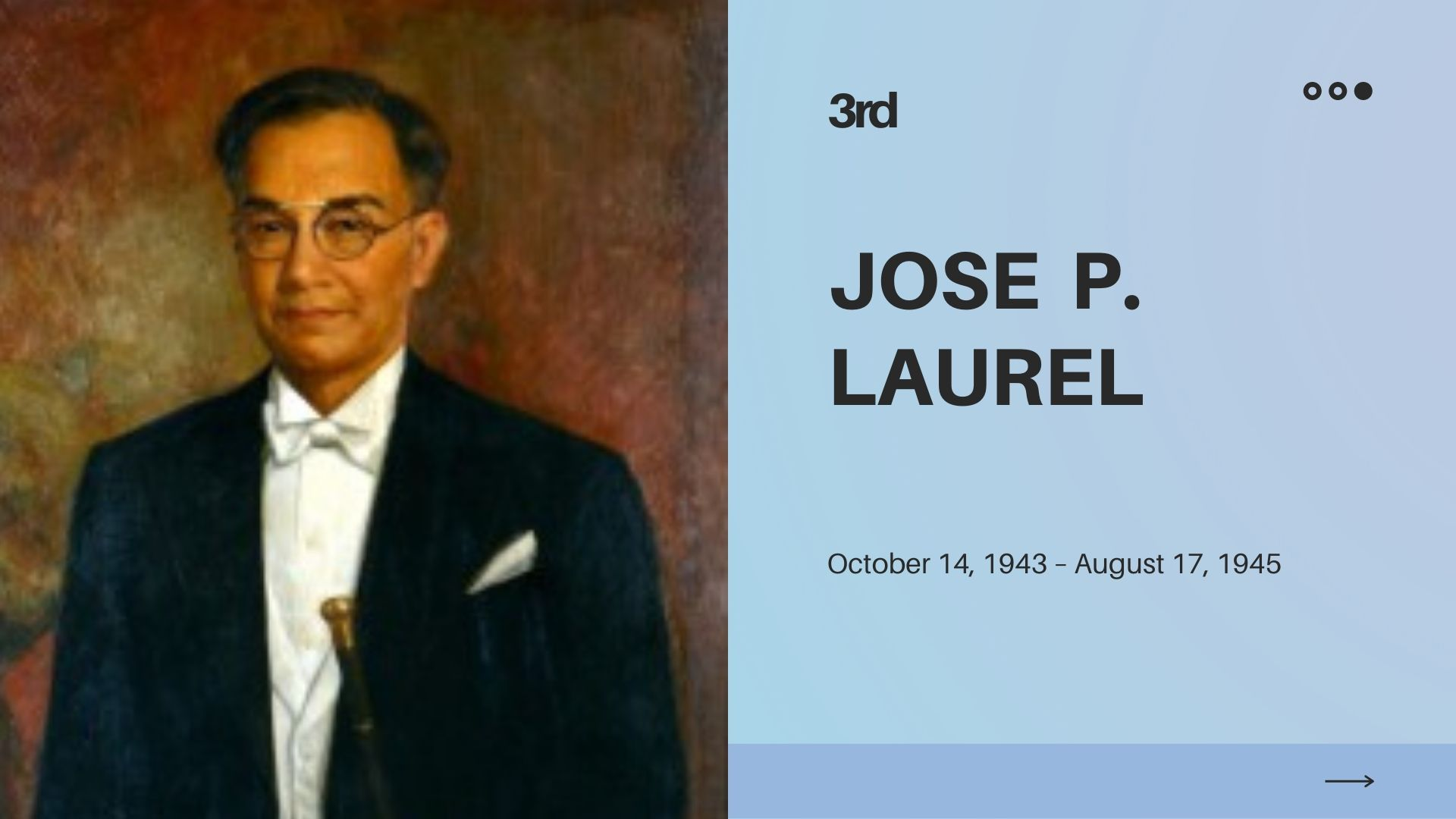 president jose p laurel achievements and contributions