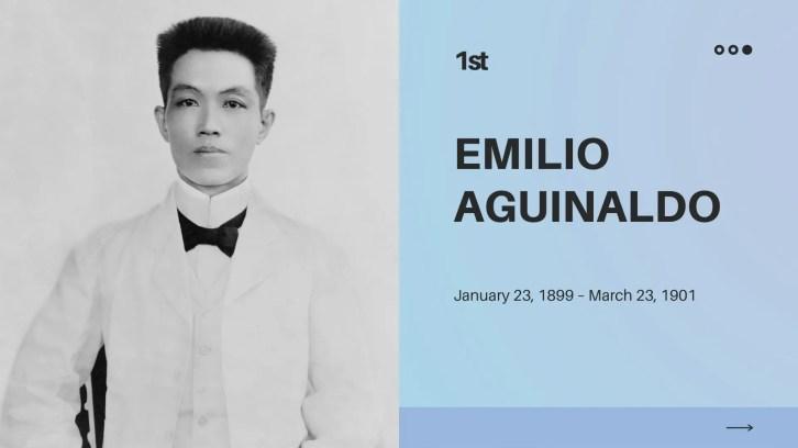 president philippines emilio aguinaldo achievements