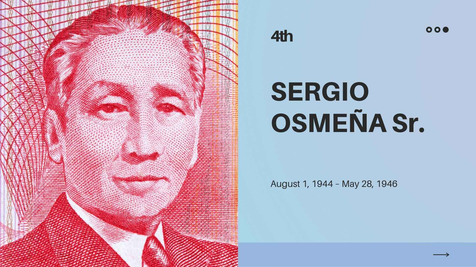 sergio osmena president of the philippines contributions