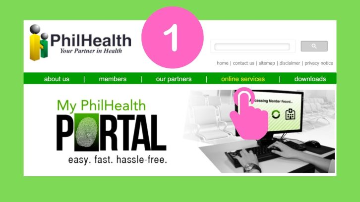 how to get philhealth mdr online step 1