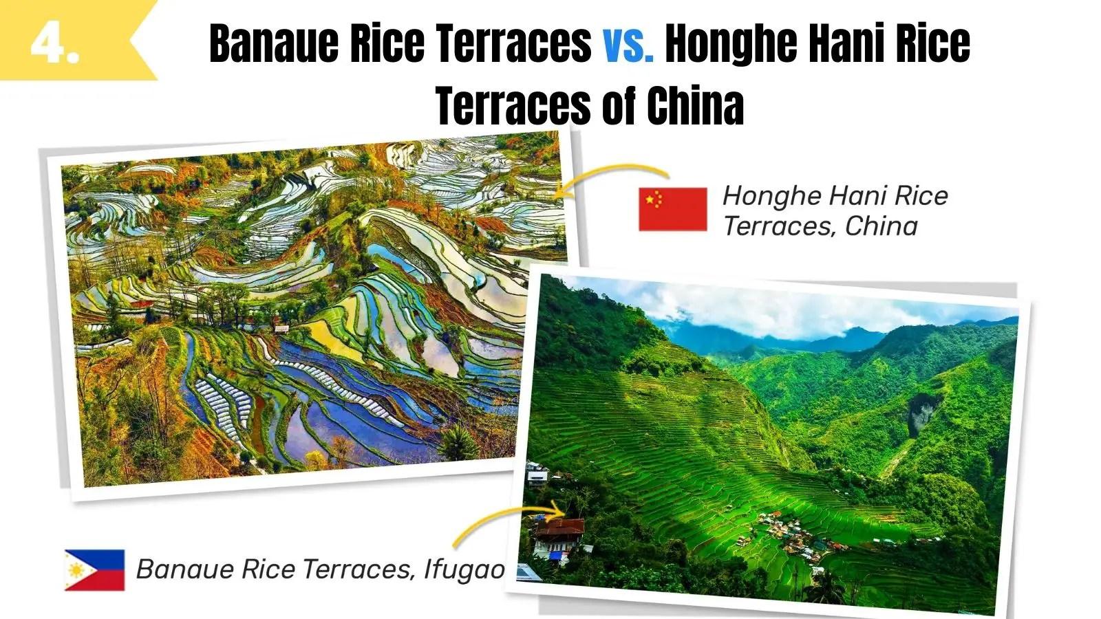 banaue rice terraces look like honghe hani rice terraces china