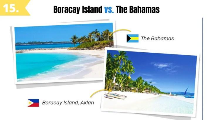 boracay island vs the bahamas