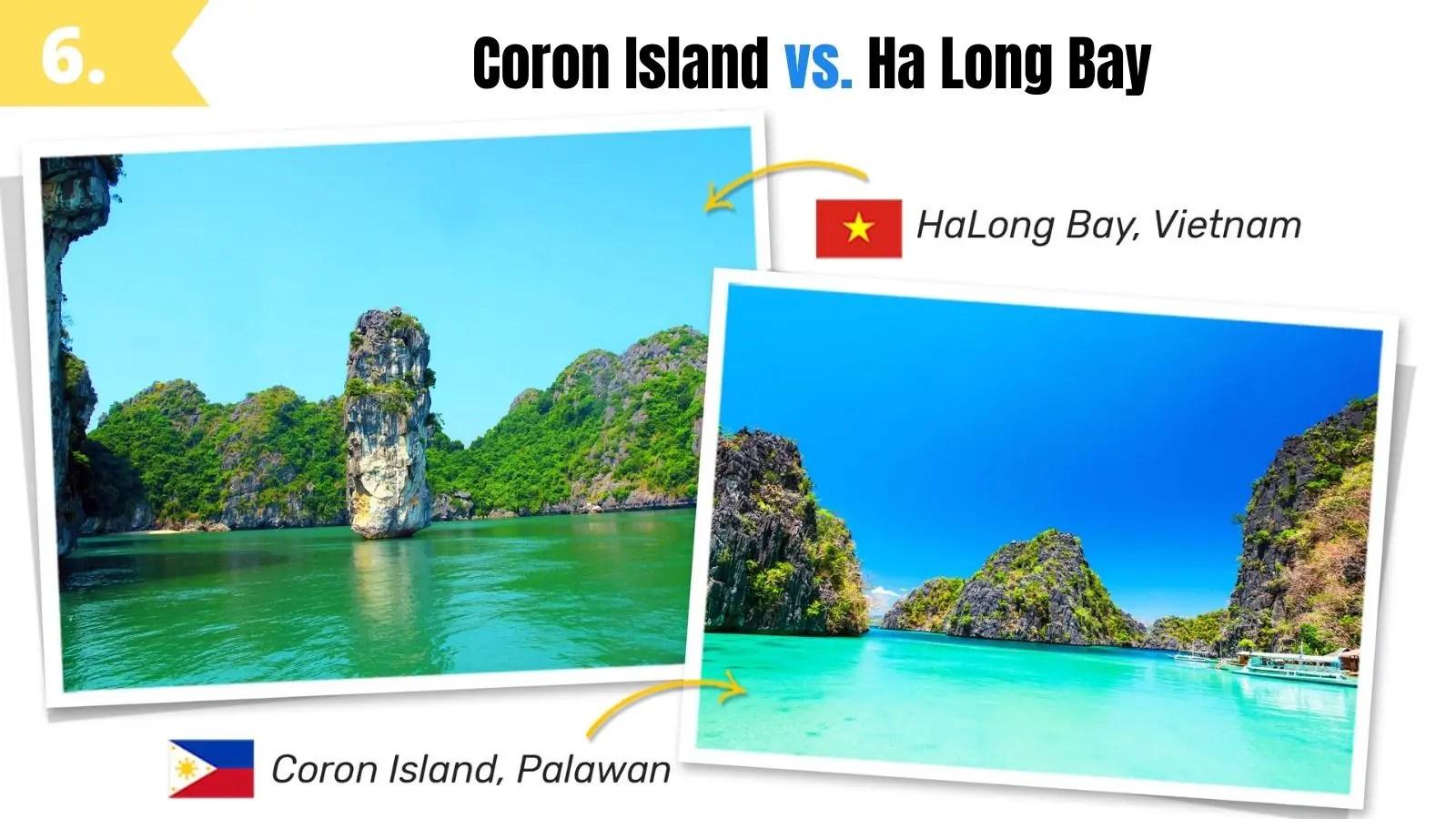 coron island palawan vs ha long bay vietnam