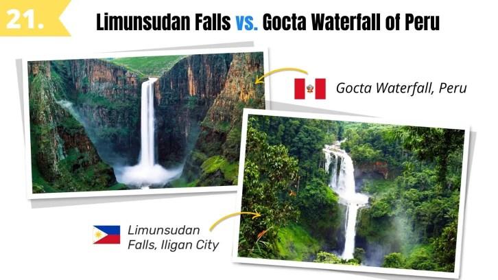limunsudan falls iligan like gocta waterfall peru