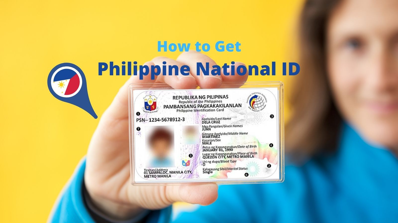 how to get philippine national id card