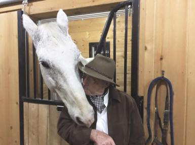 Phil Pendry with a Horse
