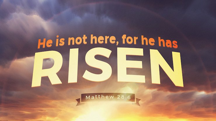 """""""He is not here, for he has risen, as he said. Come, see the place where he lay."""" (Matthew 28:6, ESV)"""