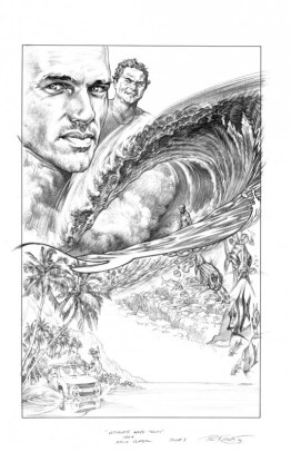 Movie Poster Composition Sketch for Ultimate Wave Tahiti