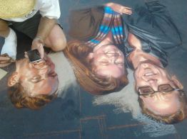 2013 I Madonnari Portrait Paintings by Phil Roberts