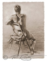 figure study charcoal sketch drawing from a live model