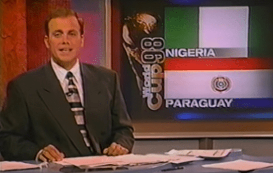 Back in my ESPN days, anchoring the World Cup 1998 wrap up show.