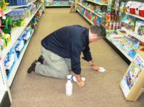 Phil W Cleaning the Floor