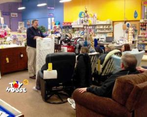 Phil Wrzesinski Teaching Shopping for Baby 101 Class