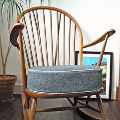 Retro Rocking Chair Black Spandex Covers Rental 1960s Ercol Philshakespeare Upholstery