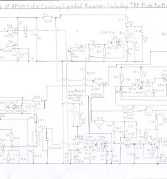 complete circuit diagram of am fm superhet receiver configuration and trf mode using a ferrite rod antenna for medium waves this is the full version  [ 1755 x 1241 Pixel ]