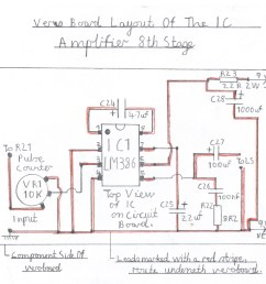 wiring diagram of the lm386 audio amplifier this stage must be constructed and tested first  [ 1779 x 1744 Pixel ]