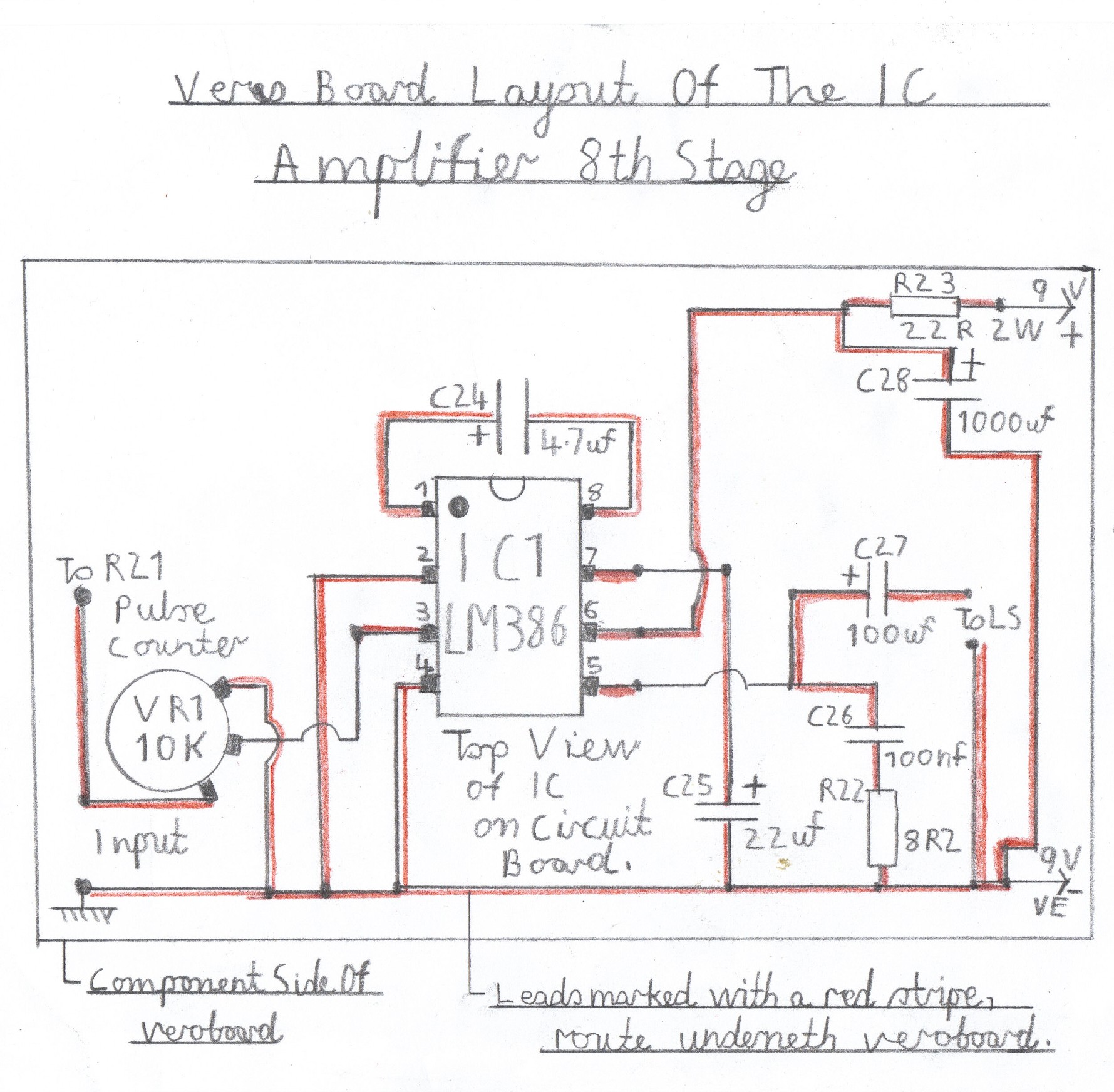 hight resolution of wiring diagram of the lm386 audio amplifier this stage must be constructed and tested first