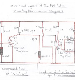 wiring diagram of the pulse counting fm discriminator this stage must be wired and tested after the audio stage is known to work ok  [ 1838 x 1413 Pixel ]